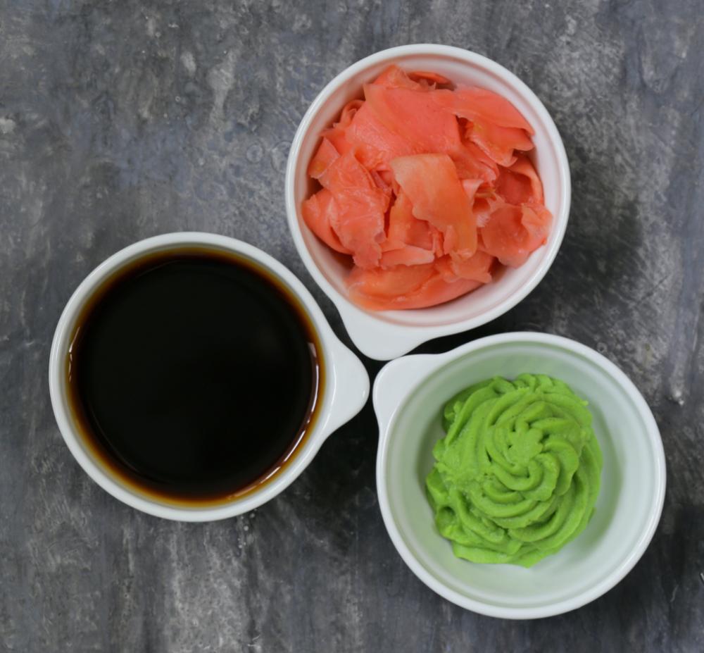 Soyasaus, Wasabi en gember