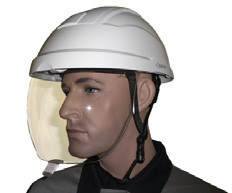 Helm met geïntegreerd scherm