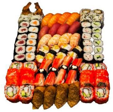 Jusho Sushi Family box, 72 stück