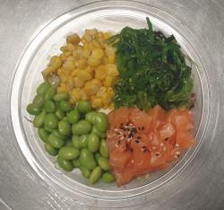 Zalm & Salades & Sushi rijst