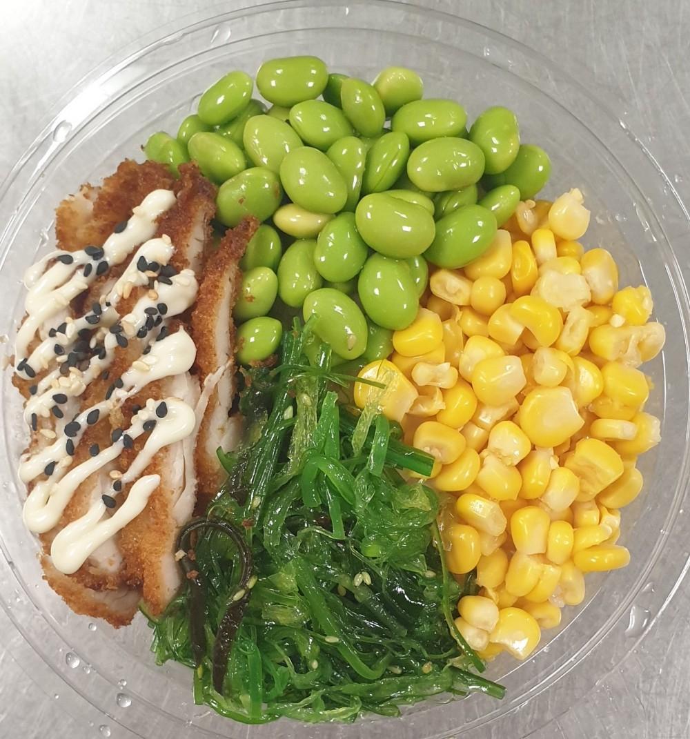 Kip & Salades & Sushi rijst