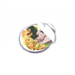 Beef ramen noodles soup
